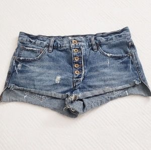 Free people- blue jean shorts
